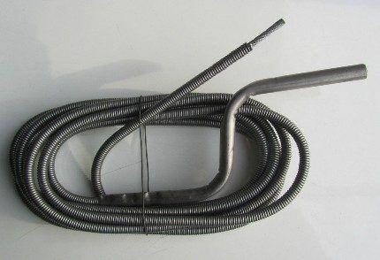 Трос для механической чистки труб