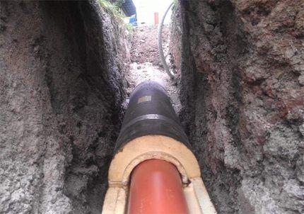Утепление трубопроводов канализации