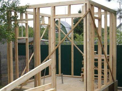 Каркас деревянной постройки
