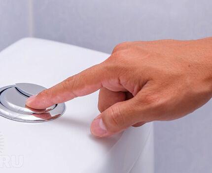 Сдвоенная кнопка для смыва