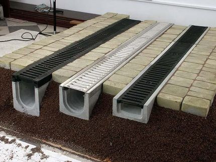 Open drainage system