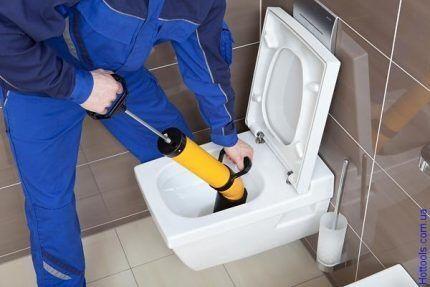 Вантуз для чистки унитаза