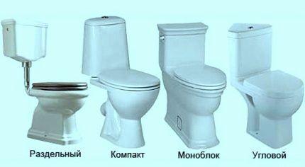 Многообразие разновидностей унитазов