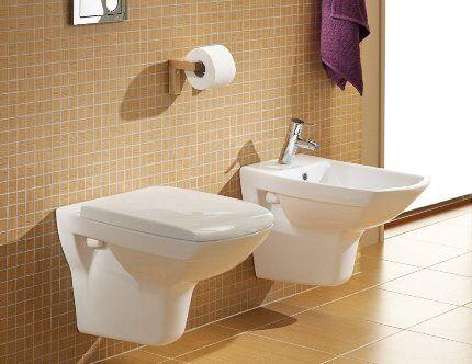 Подвесная сантехника в туалете