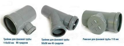 Конструктивные элементы канализации