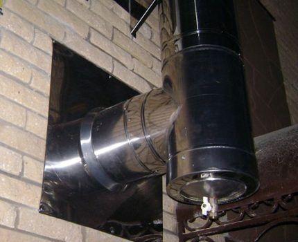 Тройник для удаления конденсата