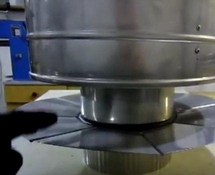 Металлическая юбка искрогасителя