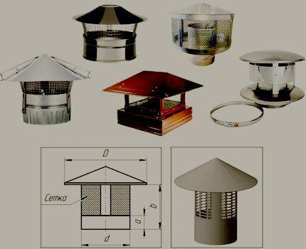 Разнообразные модели искрогасителей