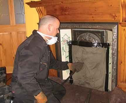 How to clean the chimney gently