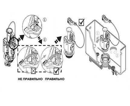 Монтаж тросикового механизма