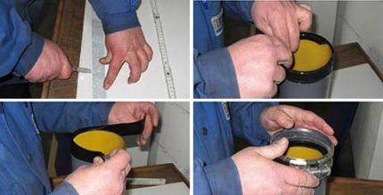 Обработка края трубы лентой pro-cut