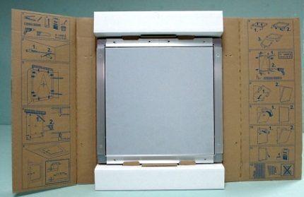 Инструкция по монтажу на упаковочном материале