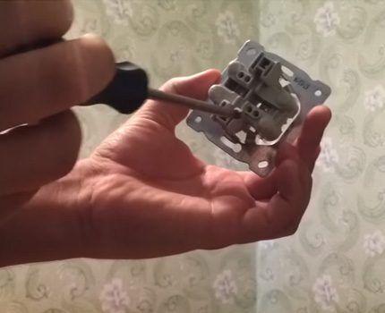 Механизм двойной розетки