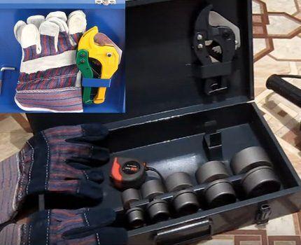 Комплектность чемодана со сварочным утюгом