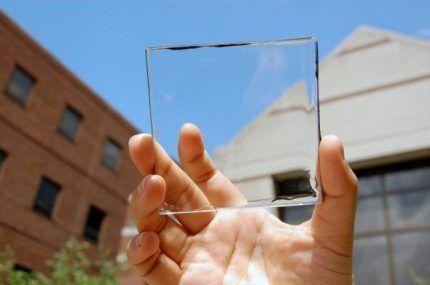 Прозрачный фотоэлемент