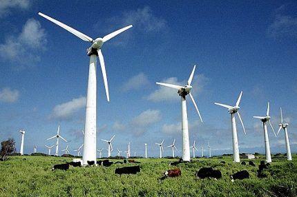 Ветрогенераторы на поле