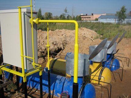 Монтаж автономного газопровода
