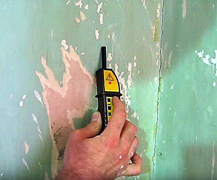 Определение проводки в стене