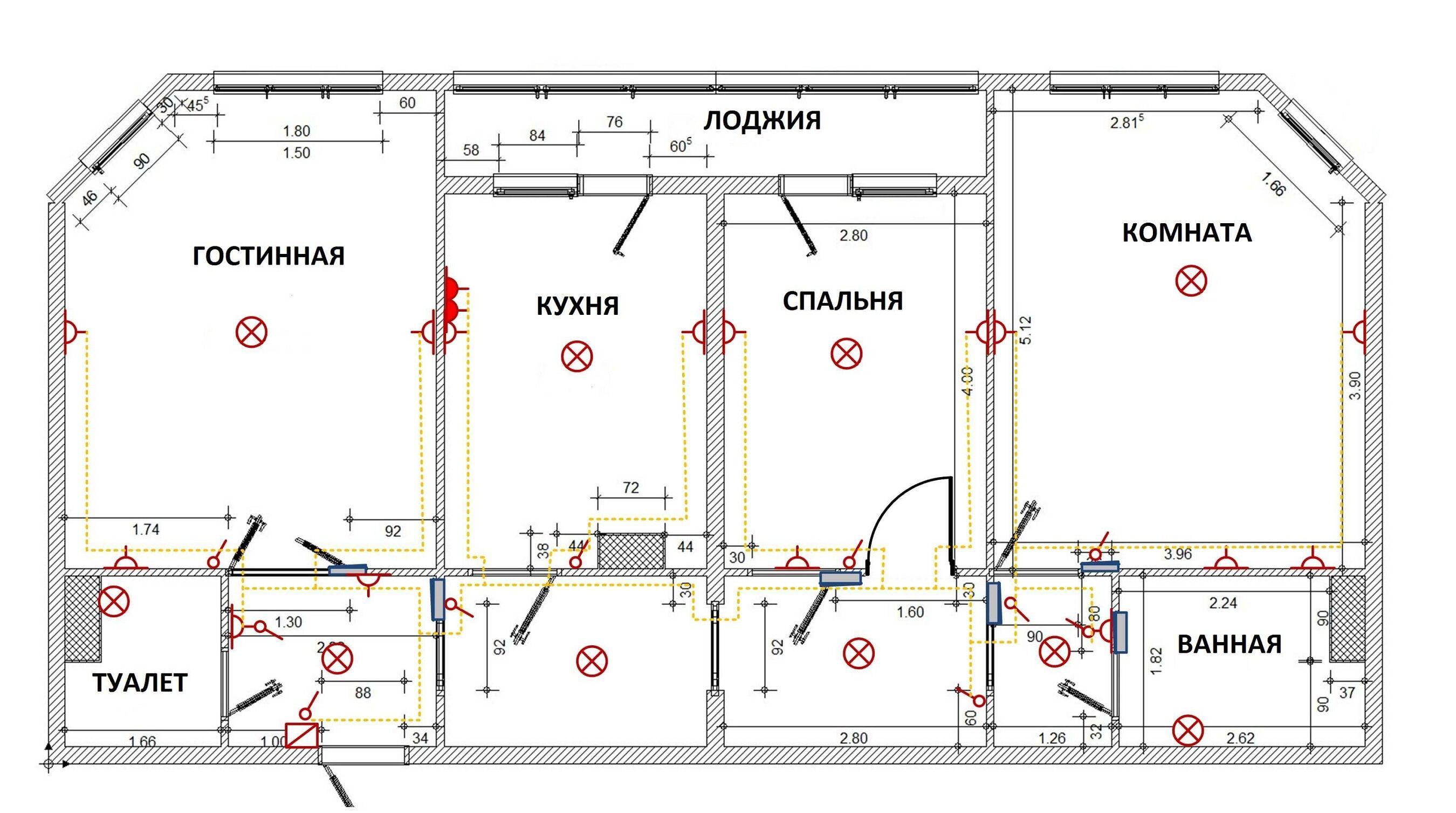 Схема электрики в квартире фото 291