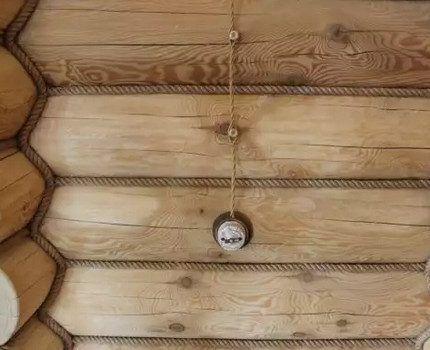 Наружная проводка по деревянной стене