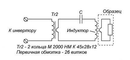 Схема индукционной катушки нагревателя