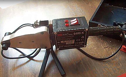 Soldering iron with flat heater