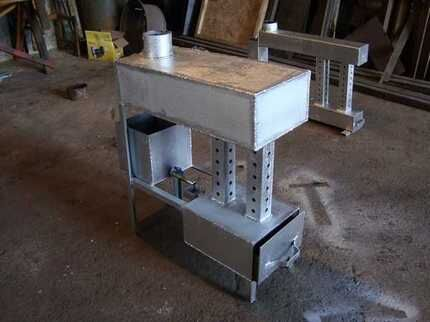 Furnace for working out for the garage