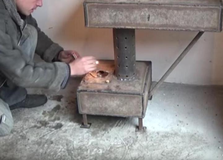 Как сделать печь для отработанного масла 92