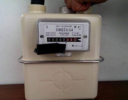 Газовый счетчик с термокорректором