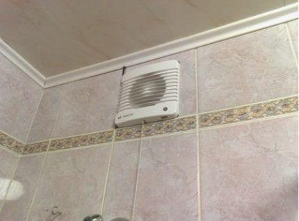 Принудительная вентиляция ванной