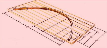 Приспособление для холодной гибки труб