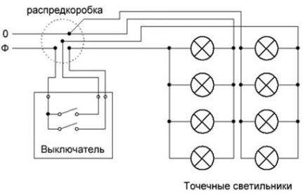 Схема разводки для комнаты