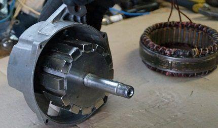 Самодельный генератор из двигателя