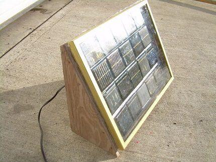 Солнечная батарея на каркасе