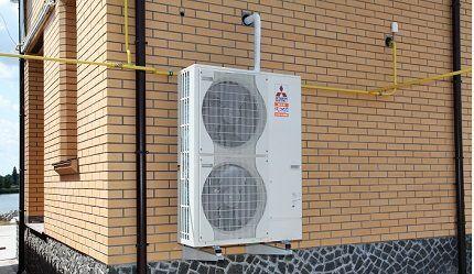Воздушный теплонасос промышленного изготовления