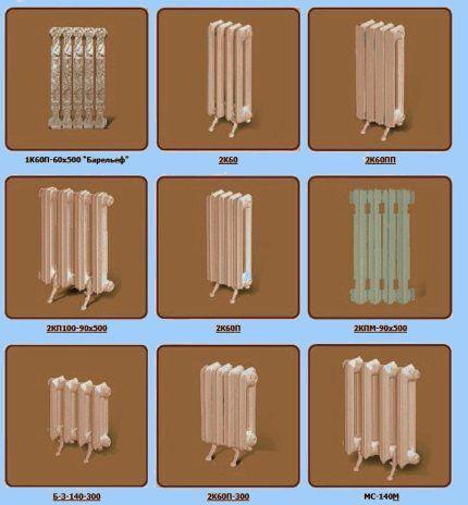 Ассортимент радиаторов