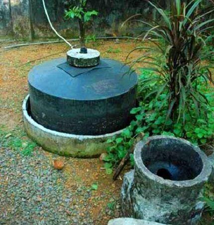 Индийский вариант простой биогазовой установки