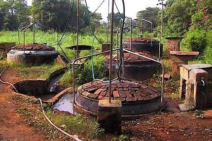 Заглубление биореакторов в землю