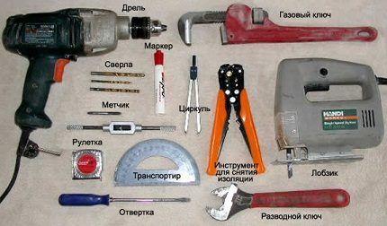 Инструменты для сборки ветрогенератора