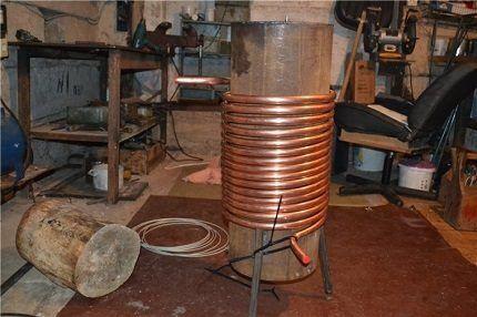 Процесс изготовления теплообменника из бака