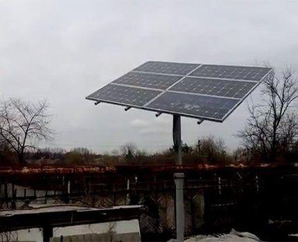 Солнечная батарея в пасмурную погоду