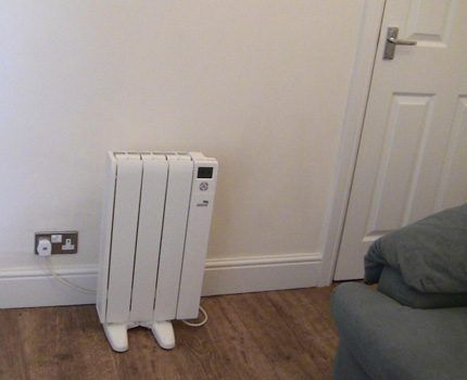 Electric radiators have a nice design.