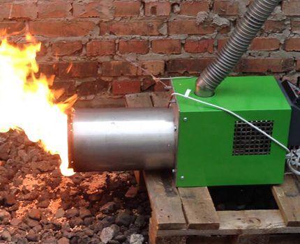 Факельная горелка котла на пеллетах
