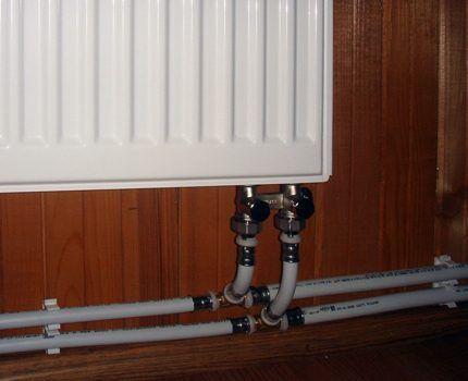 Подключение панельного радиатора
