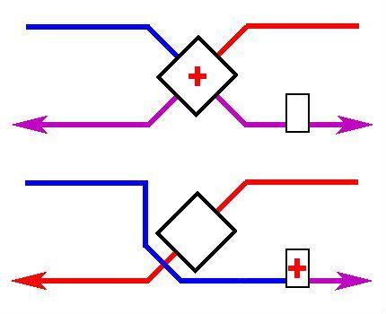 Схема движения потока воздуха через байпас
