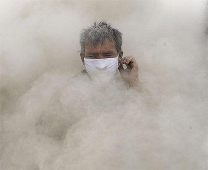 Большая концентрация пыли