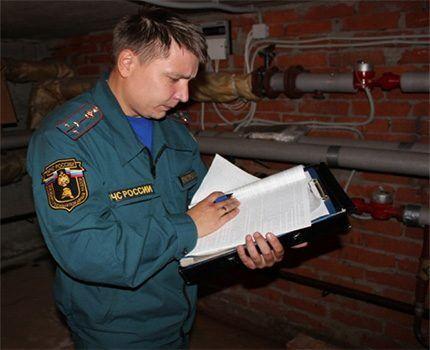 Проверка объекта пожарной инспекцией