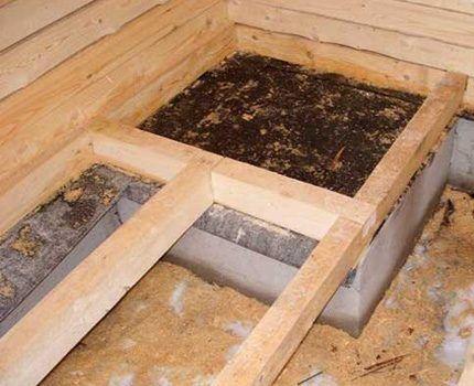 Заливка фундамента под котел