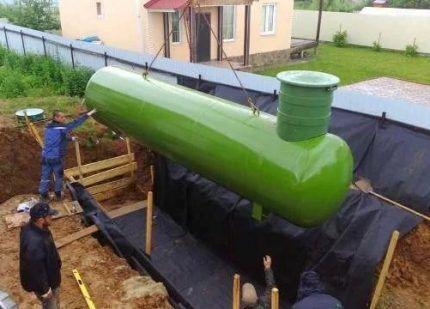 Установка газгольдера специалистами