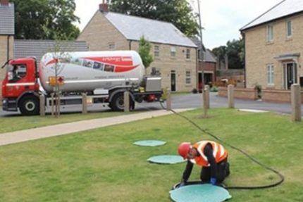 Заправка газгольдера газом